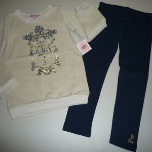 Juicy Couture Girls 2 PC Tunic Leggings Set